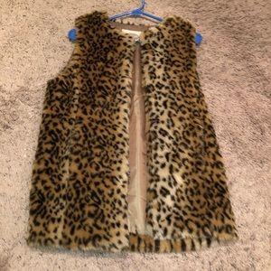 Forever 21 Leopard Vest